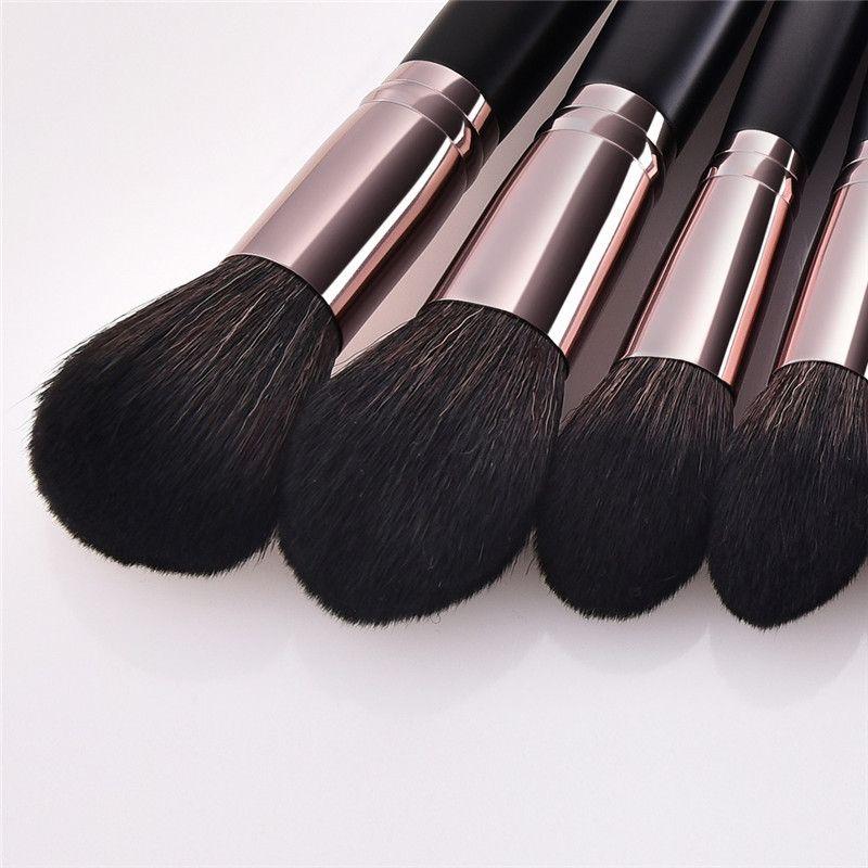 Cosmetic Brushes 17PCS Black Wooden Cosmetic Makeup Brush Foundation Powder Eyeshadow Makeup Brushes Set