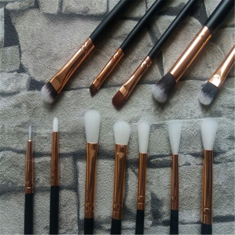 12Pc Rose Gold Makeup Brushes Professional Eye Shadow Foundation Eyebrow Oval Brush Cosmetic Make Up Brush Set