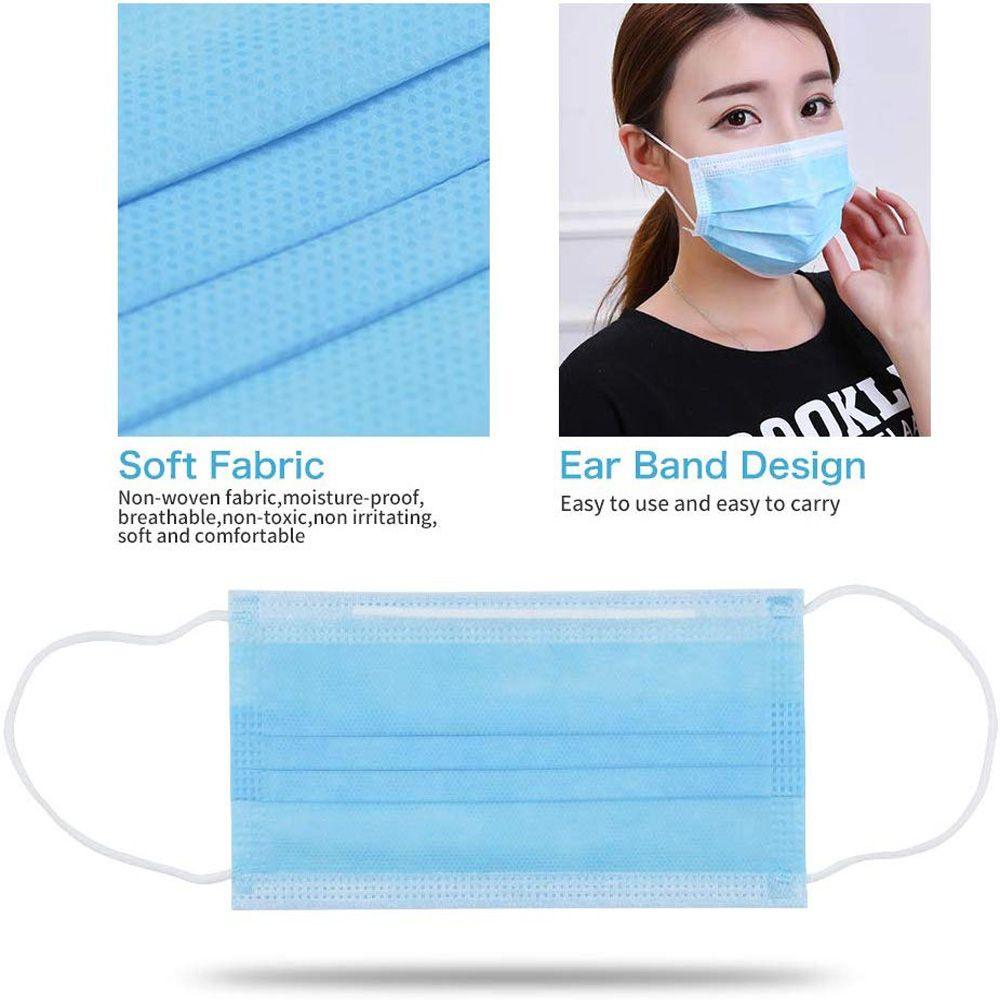 Custom 3 Ply Dental Medical Non-woven Disposable Face Mask