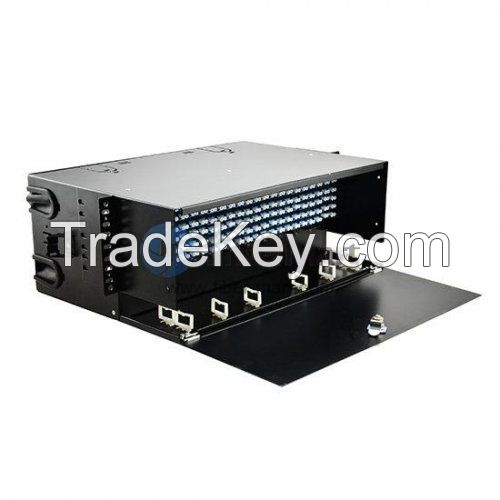 288 Ports Loaded LC FAPs 4RU Rack Mount Fiber Enclosure Panduit FRME4 Compatible