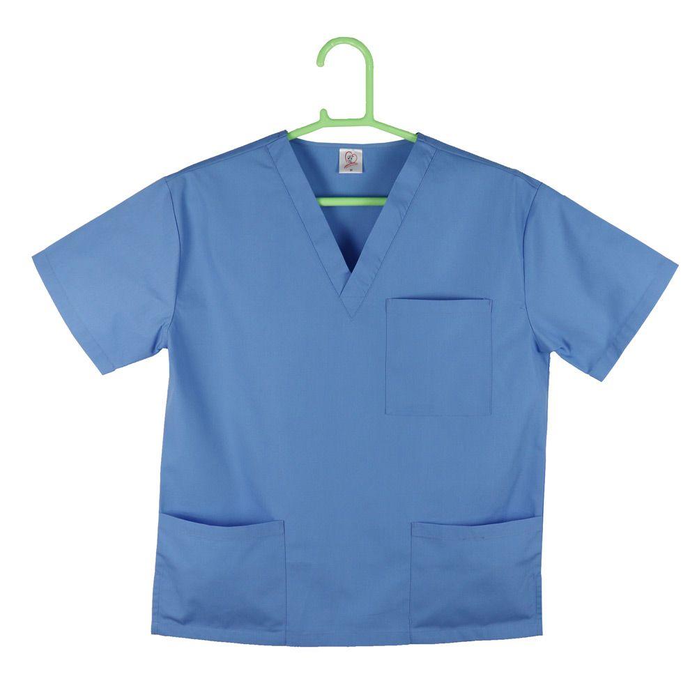 3 pockets Unisex Medical Uniform , Hospital Scrubs Uniforms Doctor's Uniform Design