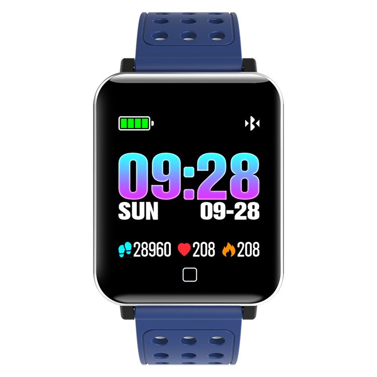M19 Color Screen Smart bracelet Heart Rate Blood Pressure IP68 BT Fitness Bracelet