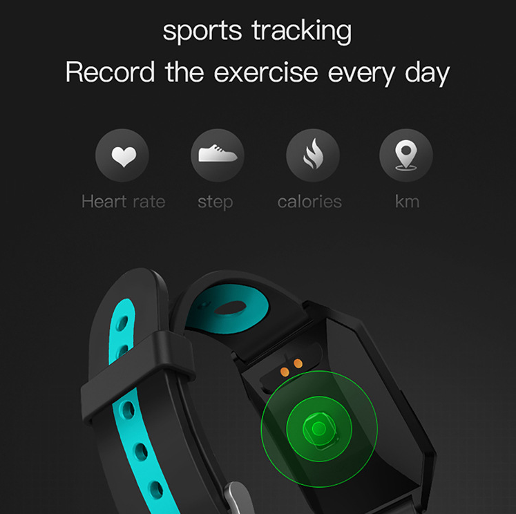 W1 Color Screen Smart Bracelet Heart Rate Monitoring BLUETOOTH Step Counter Fitness Sports Bracelet