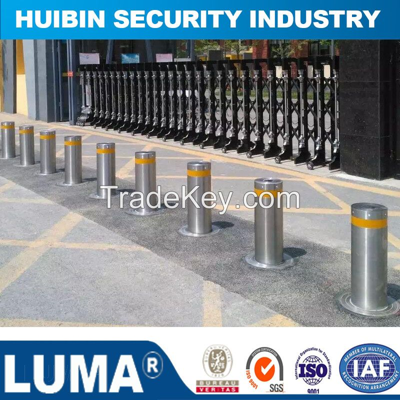 Outdoor Isolation Barrier, Removeable Stainless Bollard with LED Light
