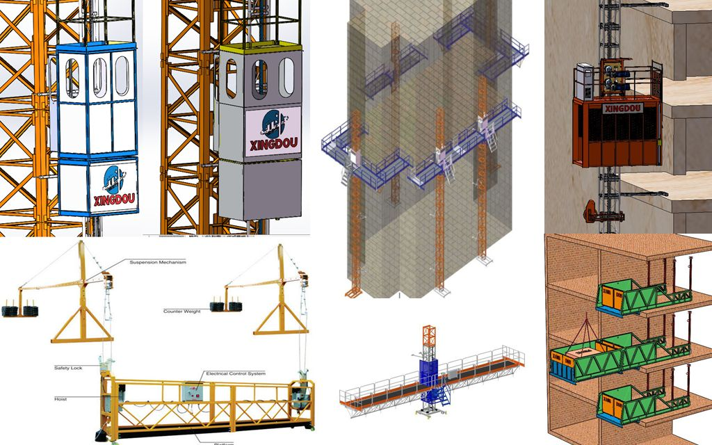 Passenger and material hoist/lift/elevator lifting machine for building