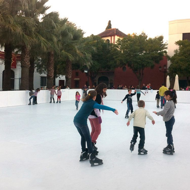 Synthetic Ice rink board / ice skating rink plate / uhmwpe skating she