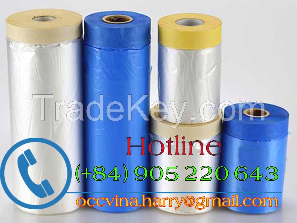 Pretaped cloth masking film