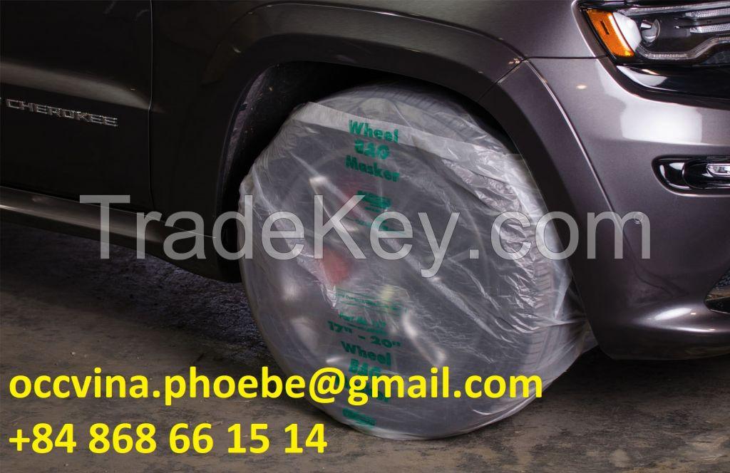 Disposable Plastic Car Wheel Covers