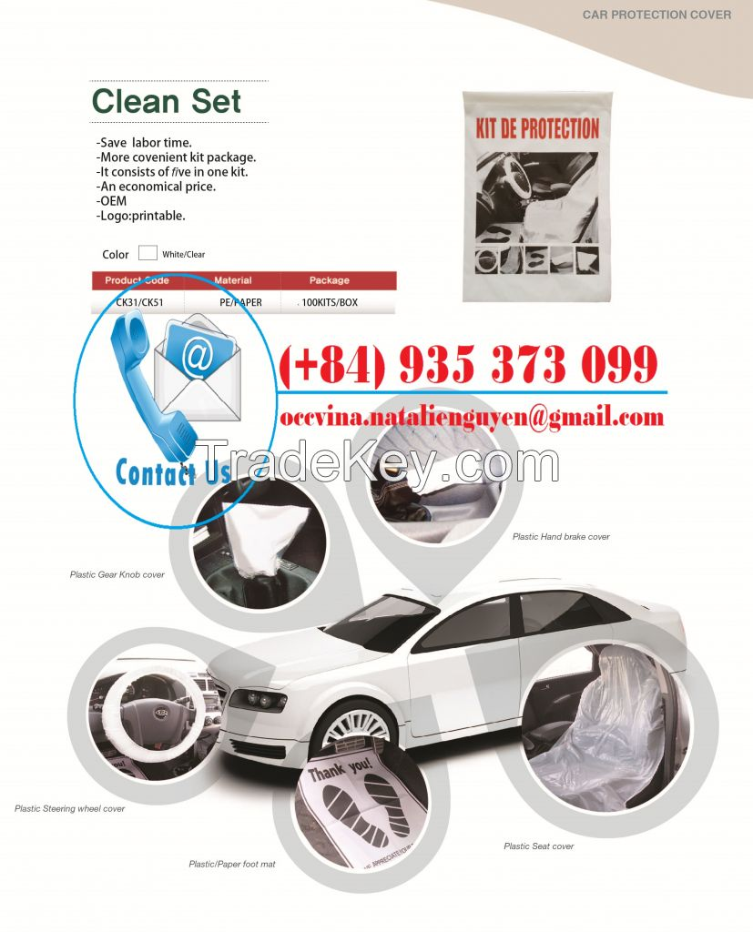 Disposable Car Clean Set