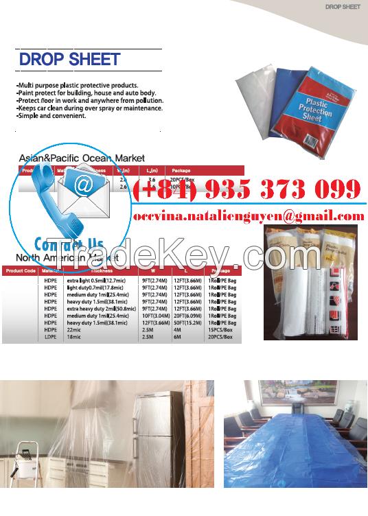 Heavy Plastic Drop Sheet