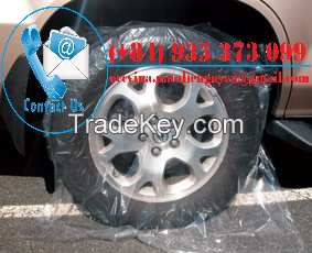 Disposable Plastic Wheel Cover