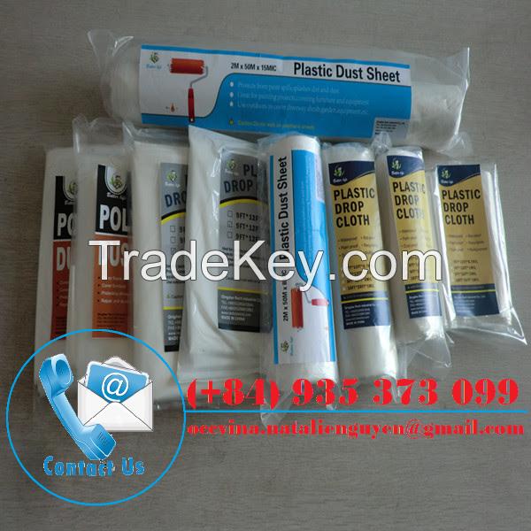 Plastic Cover/Plastic Drop Cloth/Plastic Drop Sheet