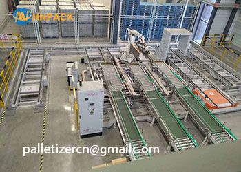 hot sales 25KG cartons and bags load robotic palletizer system