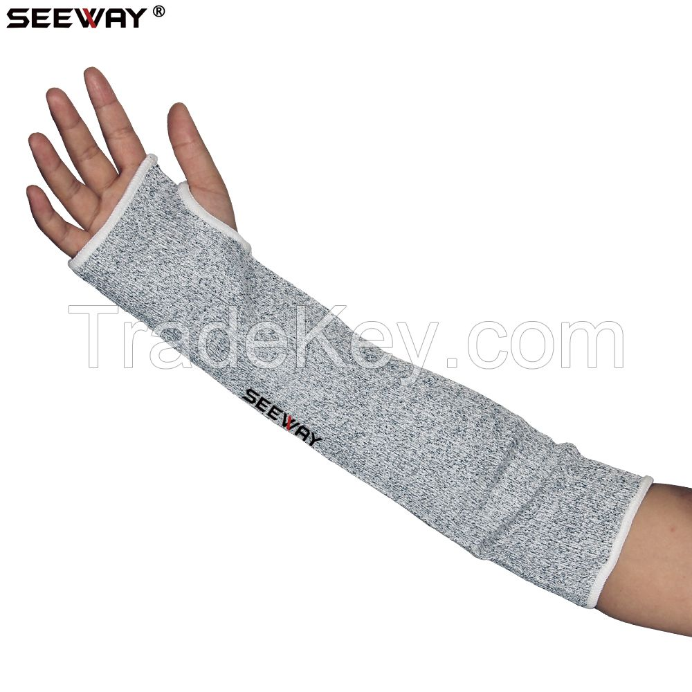 Nylon 13 Gauge Seamless Knitted Anti Cut Arm Sleeve