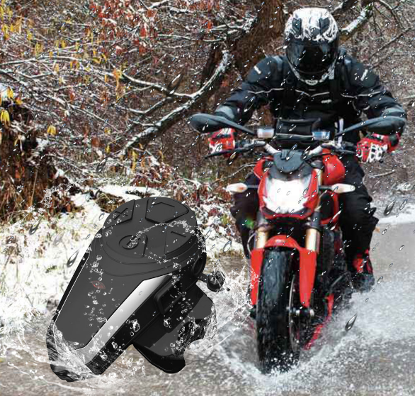 Motorcycle Bluetooth Receiver Waterproof CE Multi-Connection Intercom