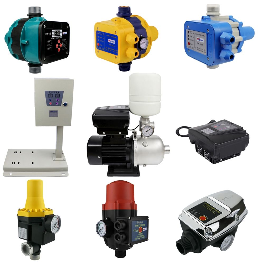 water pump pressure controllers, variable frequency drive inverters and VFD water pumps