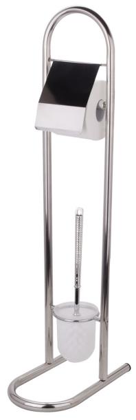 Premium Stainless Steel Toilet Brush holder paper holder set