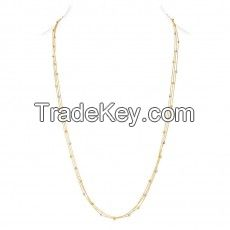 Solid 18k Yellow and White Gold Chain