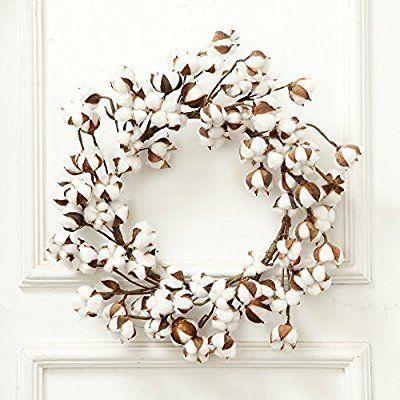 cotton decor, artficial flower, christmas tree