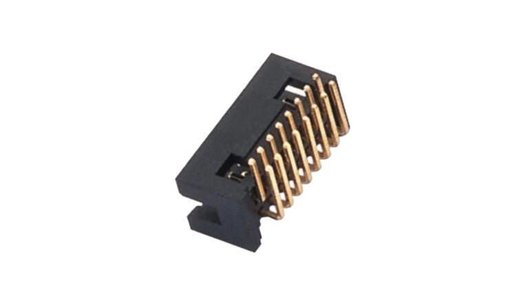Right Angle Box Header Connector 2 * 6 Pin PA6T Height 4.8mm Current Rating 2.0AMP