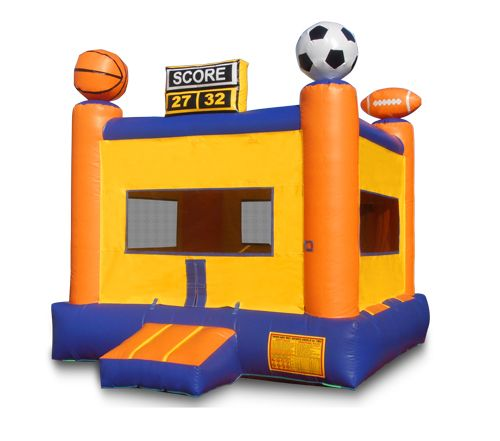 4*4m Moonwalk pvc cheap bouncy castle inflatable bouncer jumper