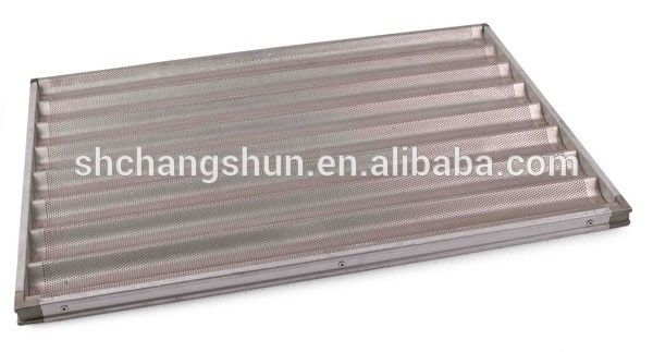 Aluminum Teflon Coated Perforated Bread French Baguette Baking Tray