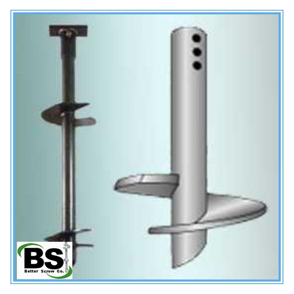 Double Blades Round Shaft Screw Piers