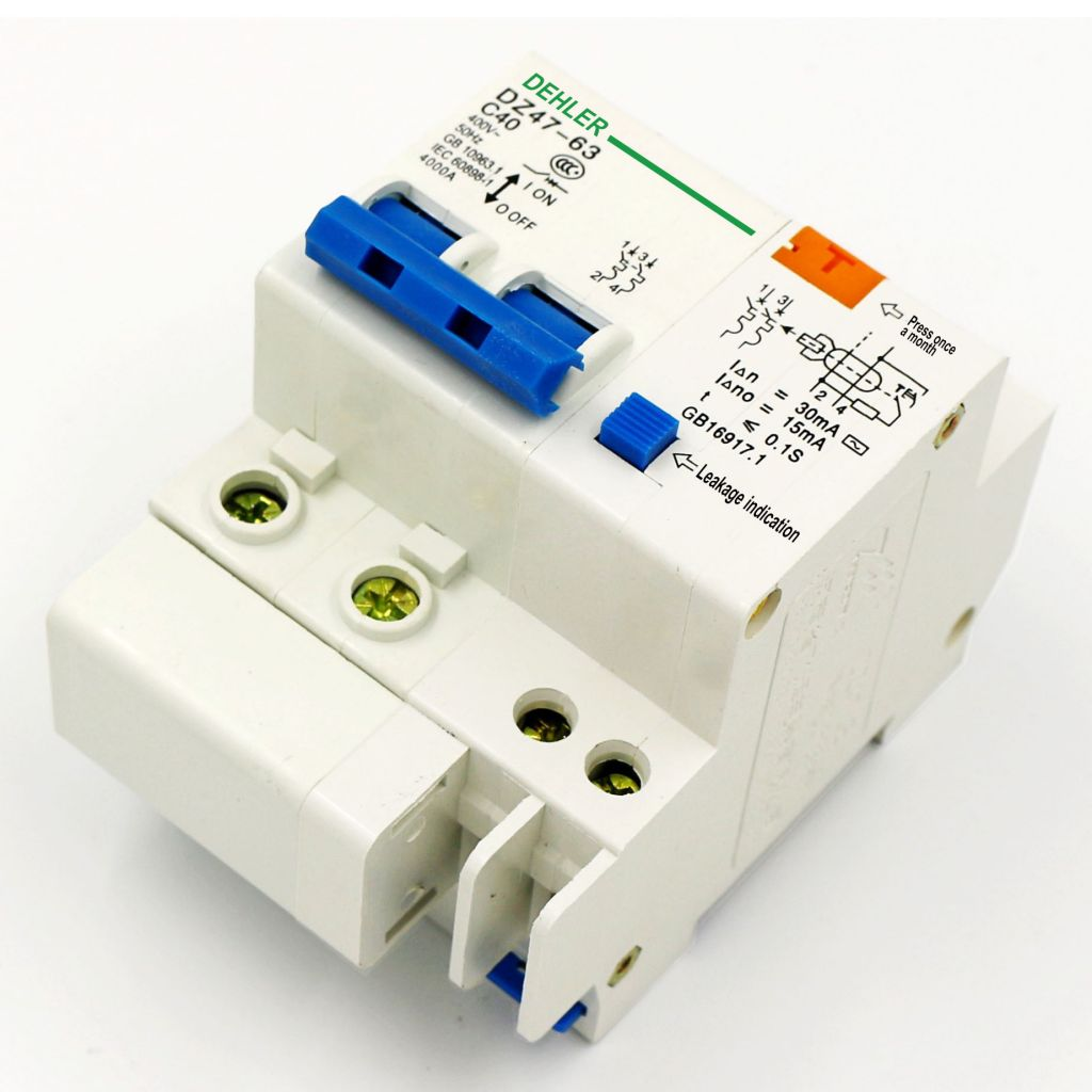 Dz47-63 C40 2p Le Leakage Circuit Breaker Household Leakage Protection Switch Low Voltage Circuit Breaker Leakage Switch