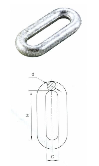 Hot-Dipped Galvanized pH Type Electric Power Link Fitting Extension Ring/pH Type Steel Electric Power Link Fitting Extension Ring / Link Chain