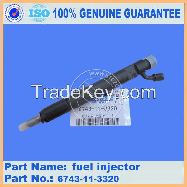 sell excavator PC300-7 fuel injector 6743-11-3320(Email:bj-*****