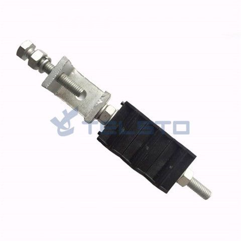Optic fiber clamp for fiber cable, power cable, double type 6 holes