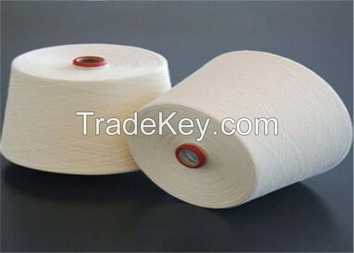 Polyester cotton blended yarn raw white