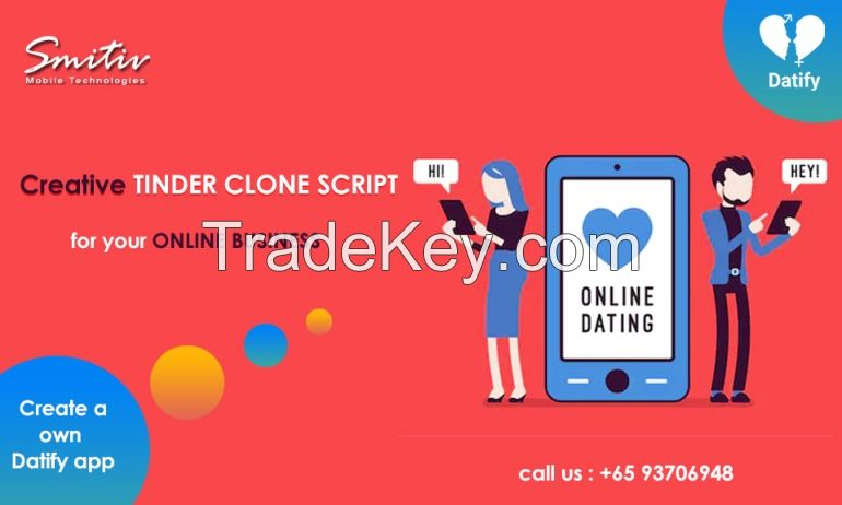 Dating app develpoment - Datify | Tinder clone | Tinder clone script