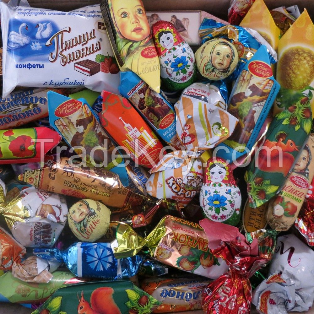 Russian sweets, chocolate, candy