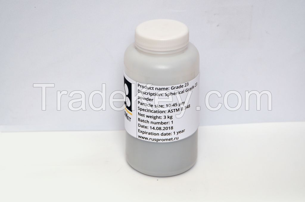 Ti 6AL4V Titanium Alloy Powder Grade 23 for 3D Printing