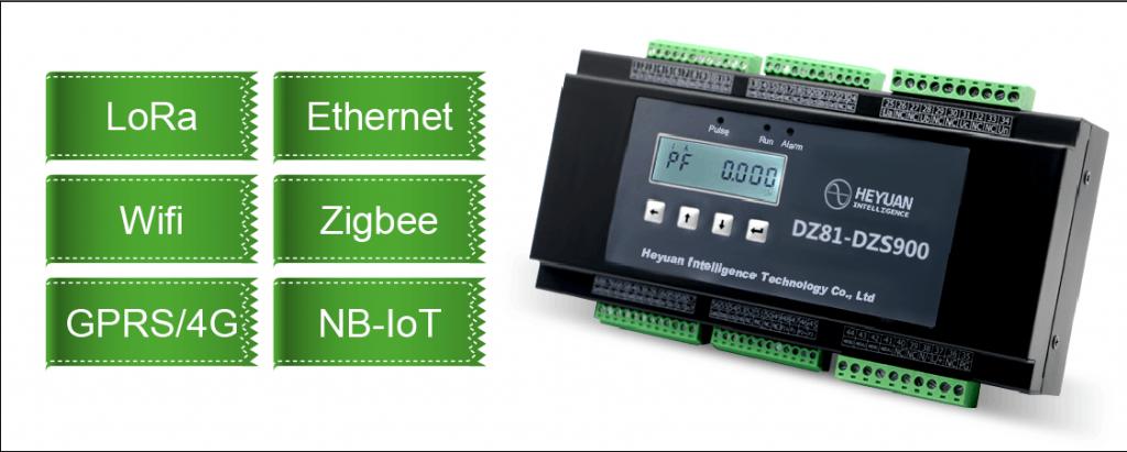 Multi channel LCD digital lora single three phase energy meter