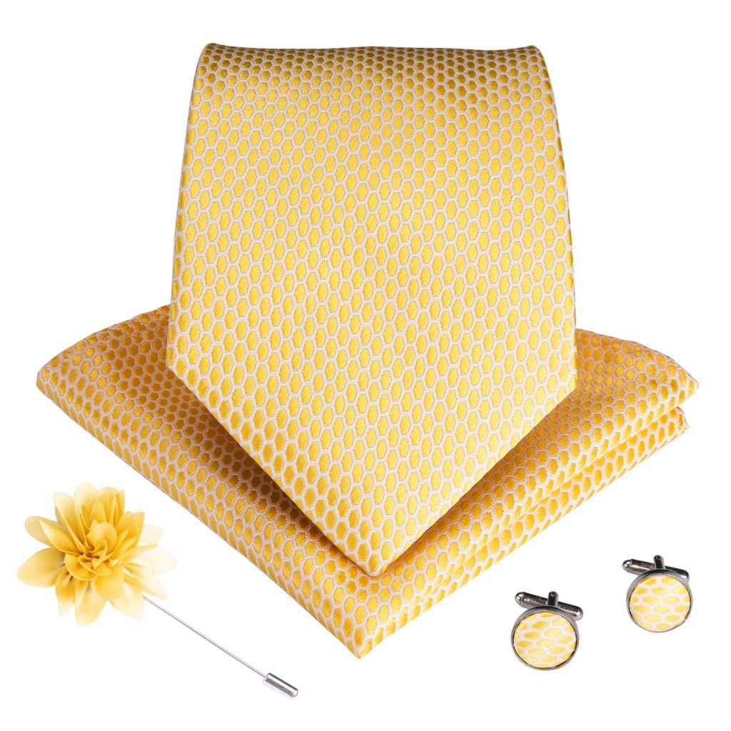 DiBanGu Wedding Classic Fashion Pocket Square Ties Woven Men Tie Purple Paisley Necktie Handkerchief Cufflinks Set With Gift Box