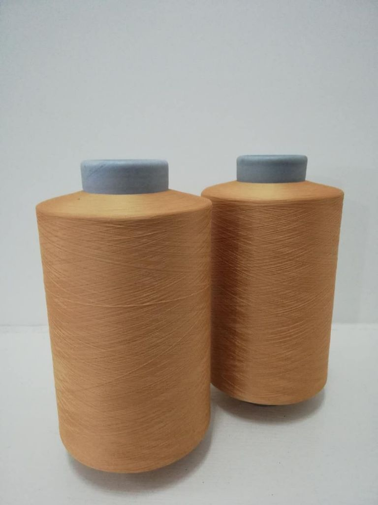 Recycled Polyester 150D/36F DTY Air Intermingled Semi Dull kniting weaving colorful dyed yarn