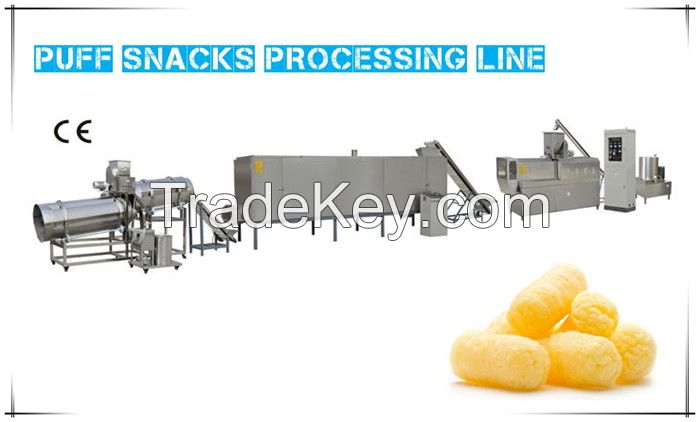 Continuous Crispy Dental Care  Approved ISO Approved  Puff Snacks Extruder