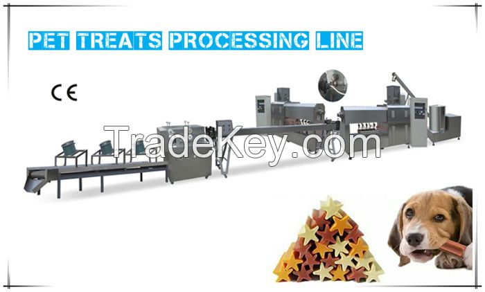 2018 USA Automatic Continuous Crispy Dental Care New Stainless Steel Large Capacity Pet Treats Processing Line