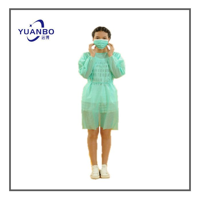 Green Disposable Isolation Gowns Supplier