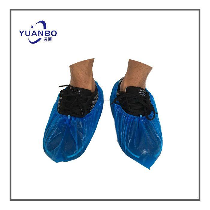 Disposable CPE Blue Shoe Cover