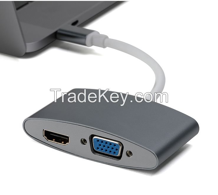 manufacturer direct offer Type C to 4K HDMI VGA Adapter