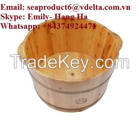 WOODEN FOOT BATHS