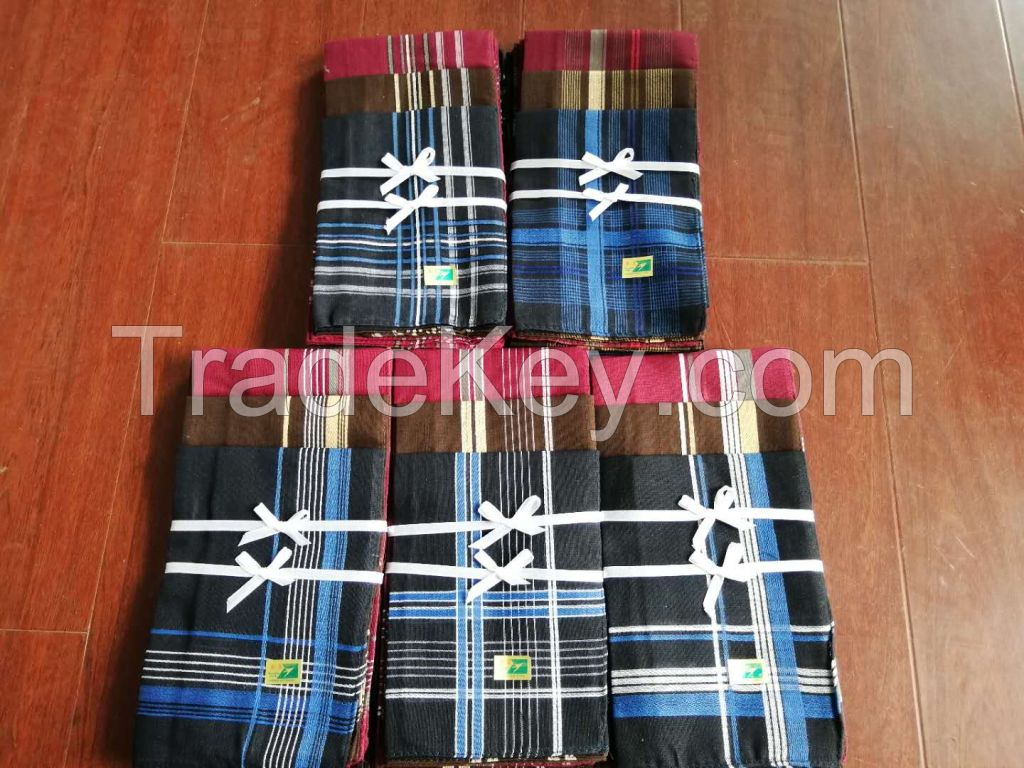 yiwu market wholesale stripe handkerchief polyester to Kenya