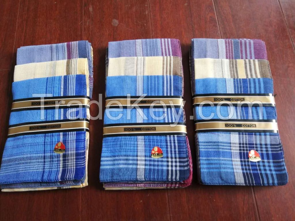 yiwu market wholesale stripe handkerchief polyester