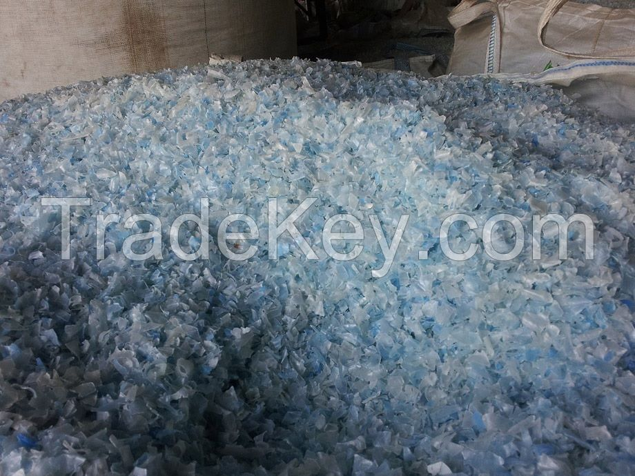 HDPE Regrind Flakes from Milk Bottles