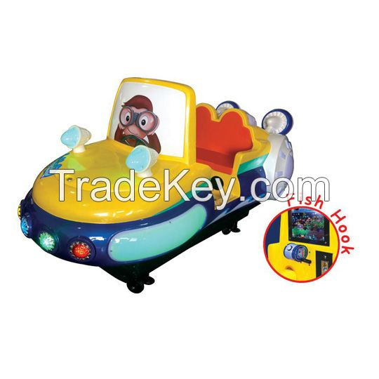 Amusement kiddie ride with interactive game - Airship Fishing