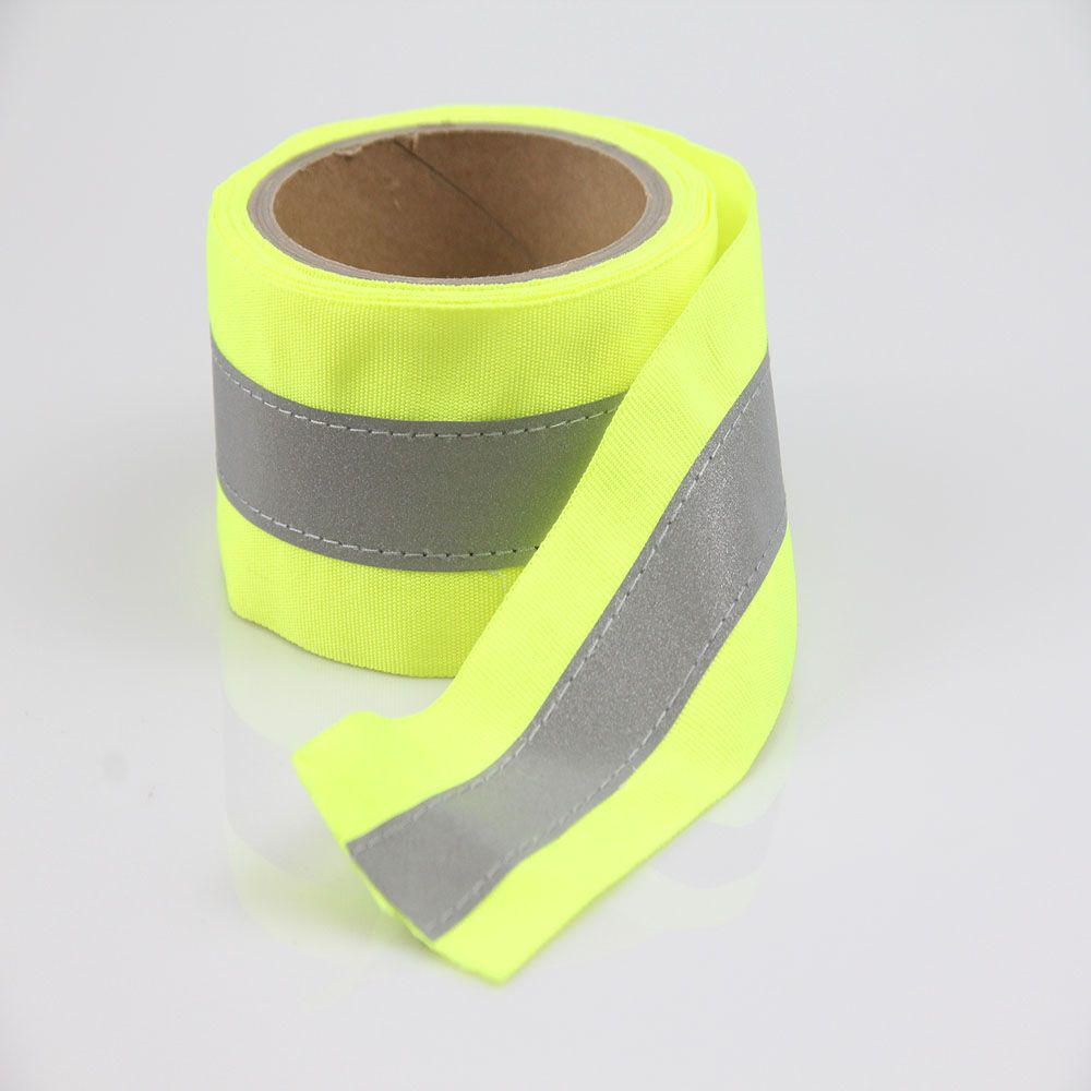 S001/S002 Reflective T/C Fabric Sewed on Webbing Tape