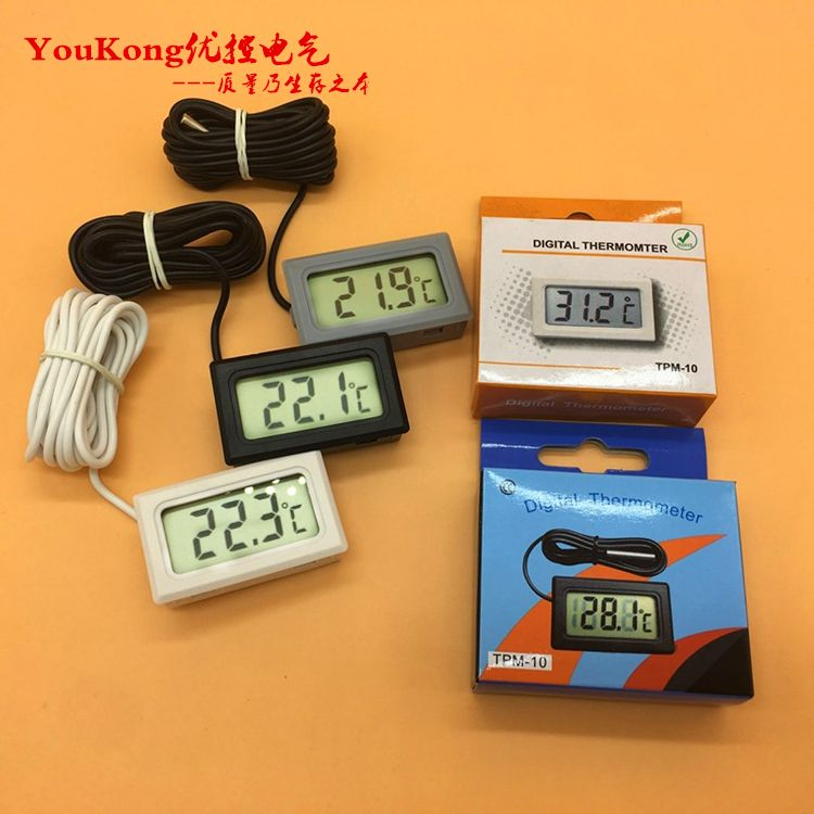 Accurate Digital Thermometer/plastic Case Digital Thermometer For Freezer/refrigertor/aquarium/ Car Air-condition Tpm-10